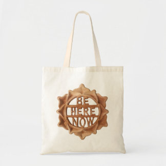Be Here Now within 12 Petal Lotus Flower Tote Bag