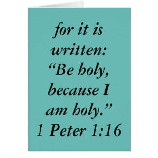 """""""Be Holy"""" Scripture Greeting Card"""