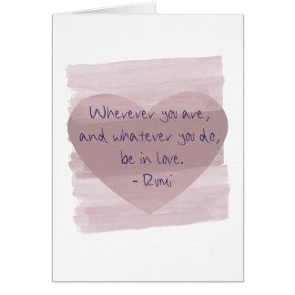 Be in Love Rumi Card