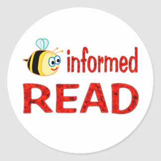 Be Informed READ Classic Round Sticker
