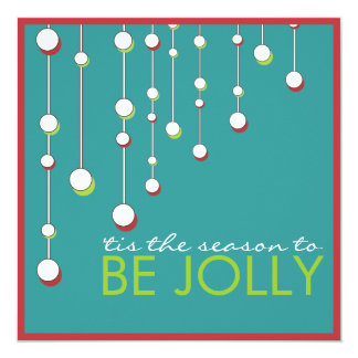 Be Jolly Modern Decoration Christmas Party Card