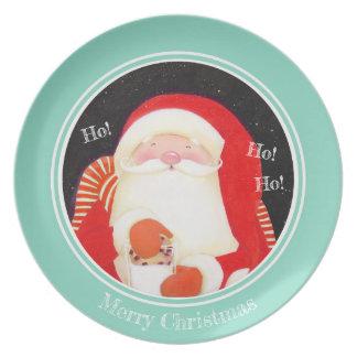 Be Jolly! Santa Christmas Plate