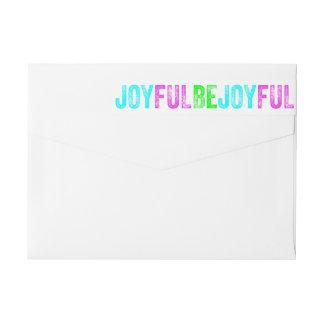 Be Joyful Colorful Christmas Holiday Custom Wraparound Return Address Label