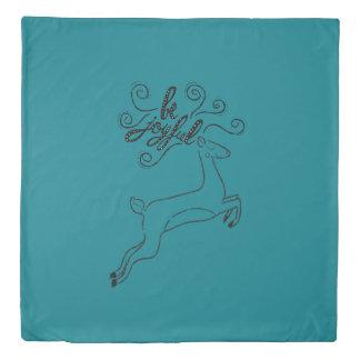 """Be Joyful"" Deer Christmas - Xmas gifts Duvet Cover"