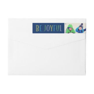 Be Joyful | Holiday Wrap Around Label