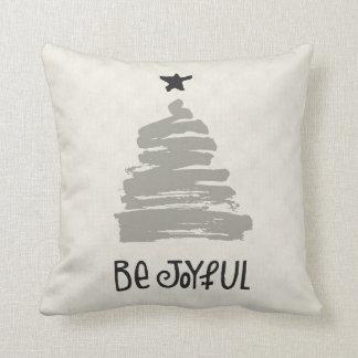 Be Joyful Linen Holiday Pillow