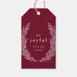 Be Joyful Modern Botanics Gift Tag