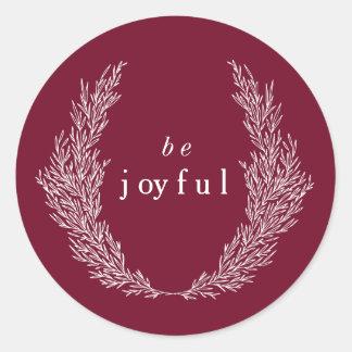 Be Joyful Modern Botanics Sticker
