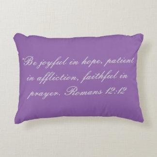 """Be Joyful"" Scripture Accent Pillow"