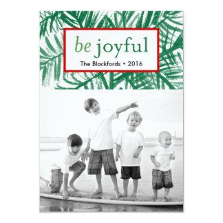 Be Joyful Watercolor Christmas Tree Card