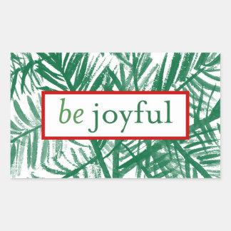 Be Joyful Watercolor Christmas Tree Sticker