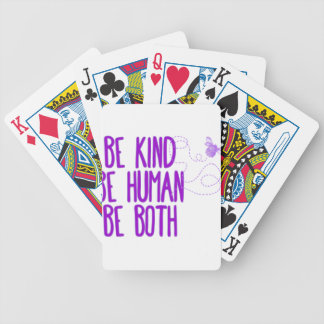 Be Kind Bicycle Playing Cards