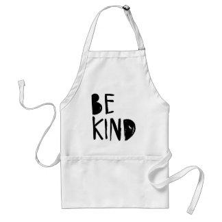 Be Kind | Black Brush Script Style Standard Apron
