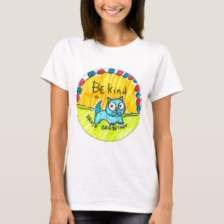 Be kind blue cat T-Shirt