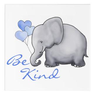 Be Kind Inspirational Cute Elephant Nursery Acrylic Print