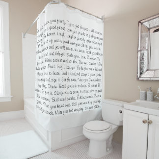 Be Kind Inspirational Sayings Shower Curtain