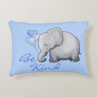 Be Kind Inspiring Sweet Balloon Elephant Nursery Decorative Pillow