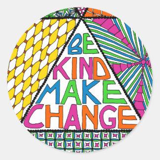 Be Kind Make Change - Nonviolence Activist Sticker