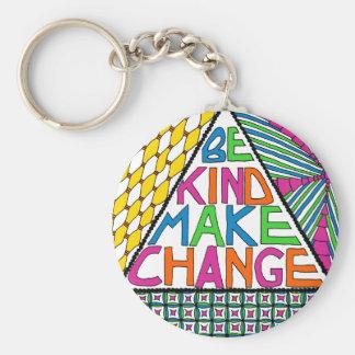 Be Kind Make Change - Peace Activism Keychain