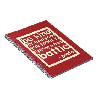 Be Kind - Plato Notebook - Red
