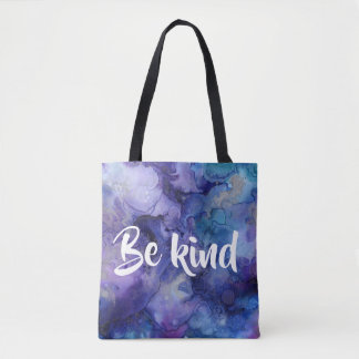 Be Kind Purple Watercolor Tote bag