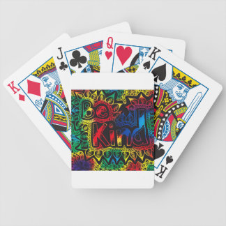 be kind rainbow bicycle playing cards