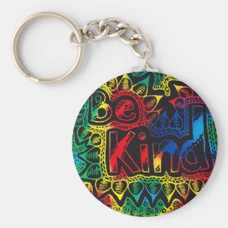 be kind rainbow keychain