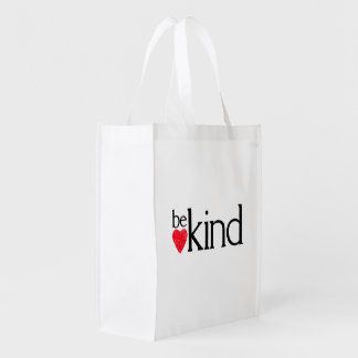 Be kind reusable grocery bag