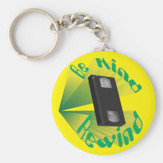 Be Kind Rewind Ver. 2 Basic Round Button Keychain