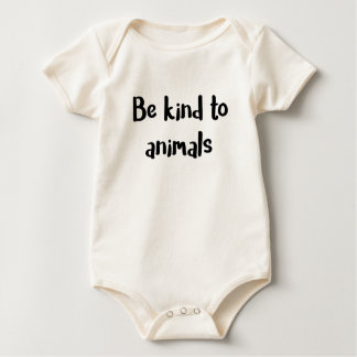 """Be kind to animals"" baby bodysuit"