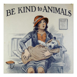 Be Kind To Animals poster
