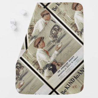 Be Kind to Animals - Vintage Poster Baby Blanket