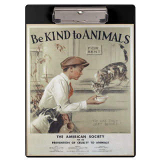 Be Kind to Animals - Vintage Poster Clipboards