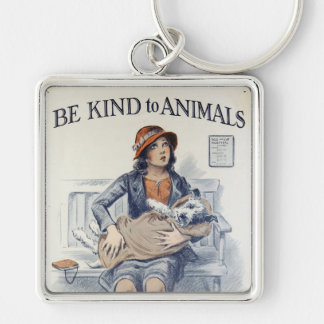 Be Kind to Animals - Vintage Poster Keychain