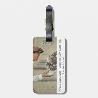Be Kind to Animals - Vintage Poster Luggage Tag