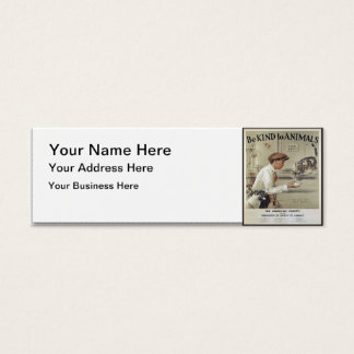 Be Kind to Animals - Vintage Poster Mini Business Card