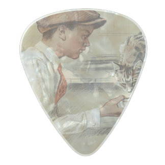 Be Kind to Animals - Vintage Poster Pearl Celluloid Guitar Pick