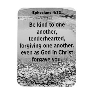 Be kind to one another Bible Quote Magnet