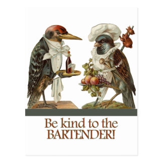 Be Kind to the Bartender Postcard