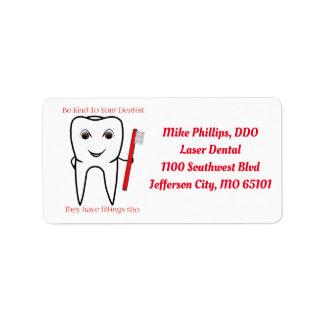 Be Kind To Your Dentist Dental Business Labels