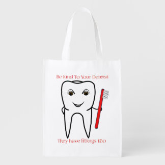 Be Kind To Your Dentist Funny Reusable Grocery Bag