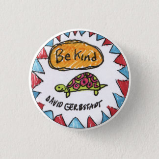 Be Kind turtle 1 Inch Round Button