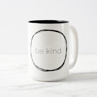 Be Kind Two-Tone Coffee Mug