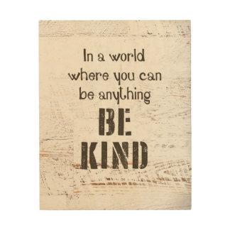 Be Kind Wood Wall Art