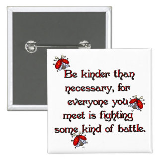 Be Kinder 2 Inch Square Button