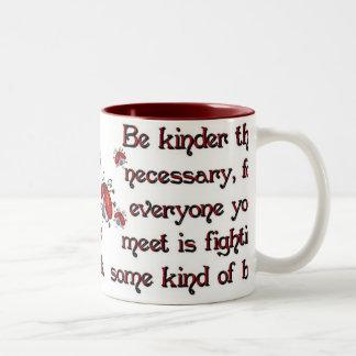 Be Kinder Two-Tone Coffee Mug