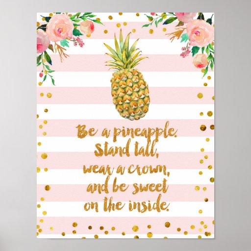 Be Like Pineapple Poster Art Print