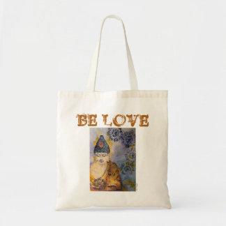 Be Love Buddha Art Budget Canvas Tote