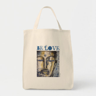 Be Love Buddha Watercolor Art Canvas Tote