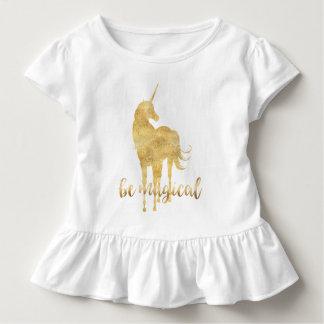 Be Magical Gold Unicorn Toddler T-shirt
